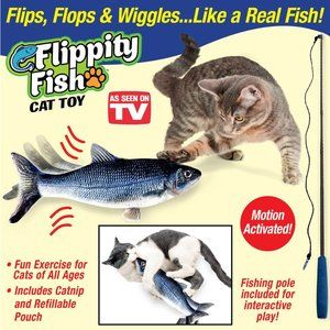 Motion Activated Flippity Fish Realistic Interacti